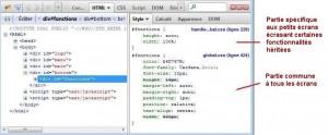 Figure 5: héritage de style de la balise «fonction» mis en évidence à l'aide de Firebug