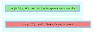 Figure 6: illustration de la différence entre 100% et auto