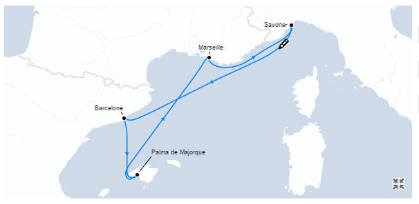 Croisière France - Italie - Espagne