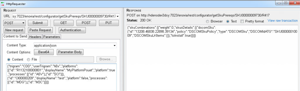 Figure 1 : interface de HttpRequester : simple et fonctionnelle
