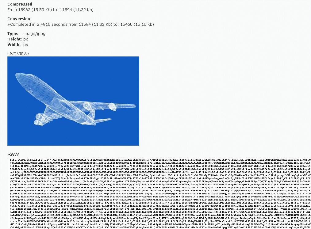 Figure 10 : exemple d'une image convertie avec askapache en base 64