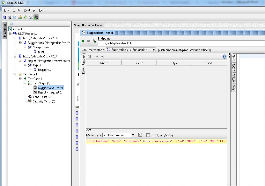 Figure 2 : SOAP UI est un logiciel avancé d'appels de Web service