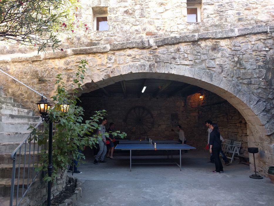 Tournoi de ping pong en cours